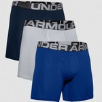 Under Armour UA Charged Cotton 6inch Boxers 3 Pack - Blue