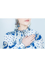 TUNNEL BLOUSE - WHITE/BLUE