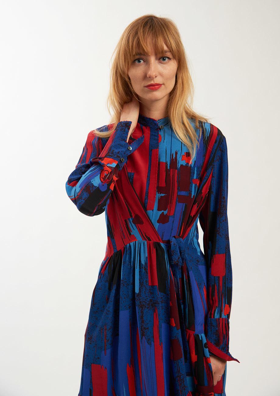 FAVORITE SILK DRESS LONG - BRUSH NIGHT-5
