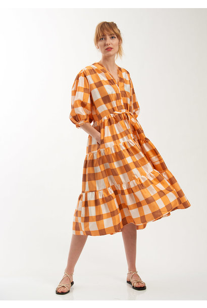 WEEKEND DRESS - KARO ORANGE
