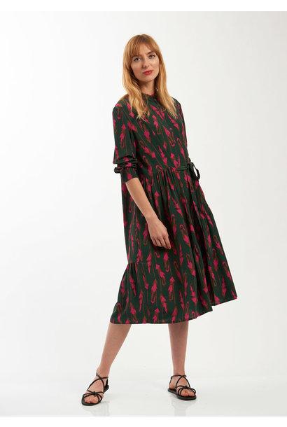 FAVORITE SILK DRESS SHORT - FEATHER FOREST