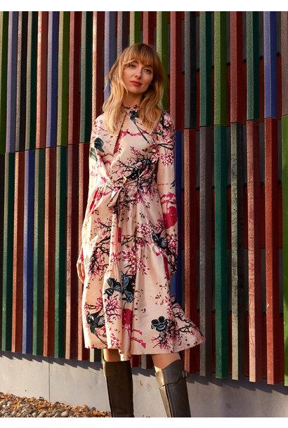 FAVORITE SILK DRESS SHORT - BRANCHES SAND
