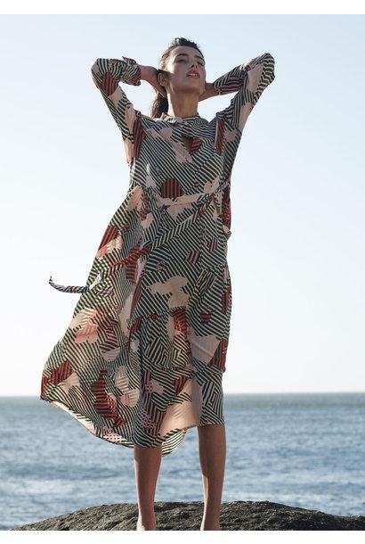FAVORITE SILK DRESS - STRIPES RETRO