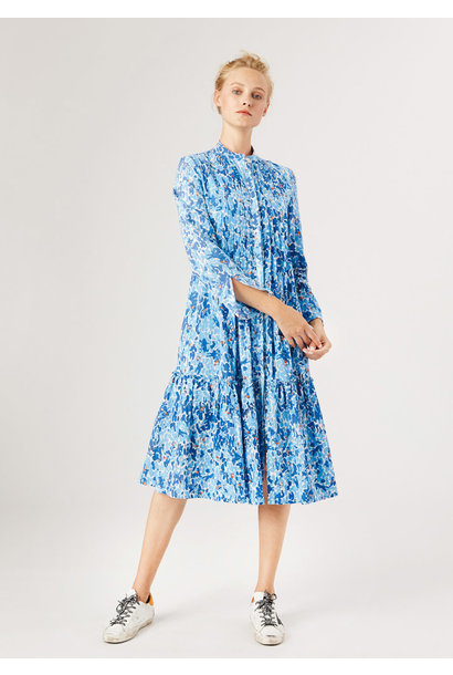BASIC PLEATS DRESS - BLUE