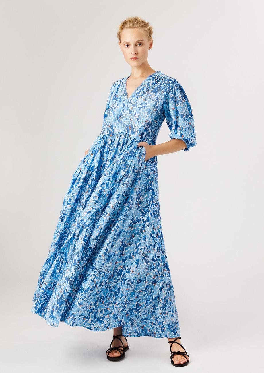 WEEKEND DRESS LONG - BLUE-1
