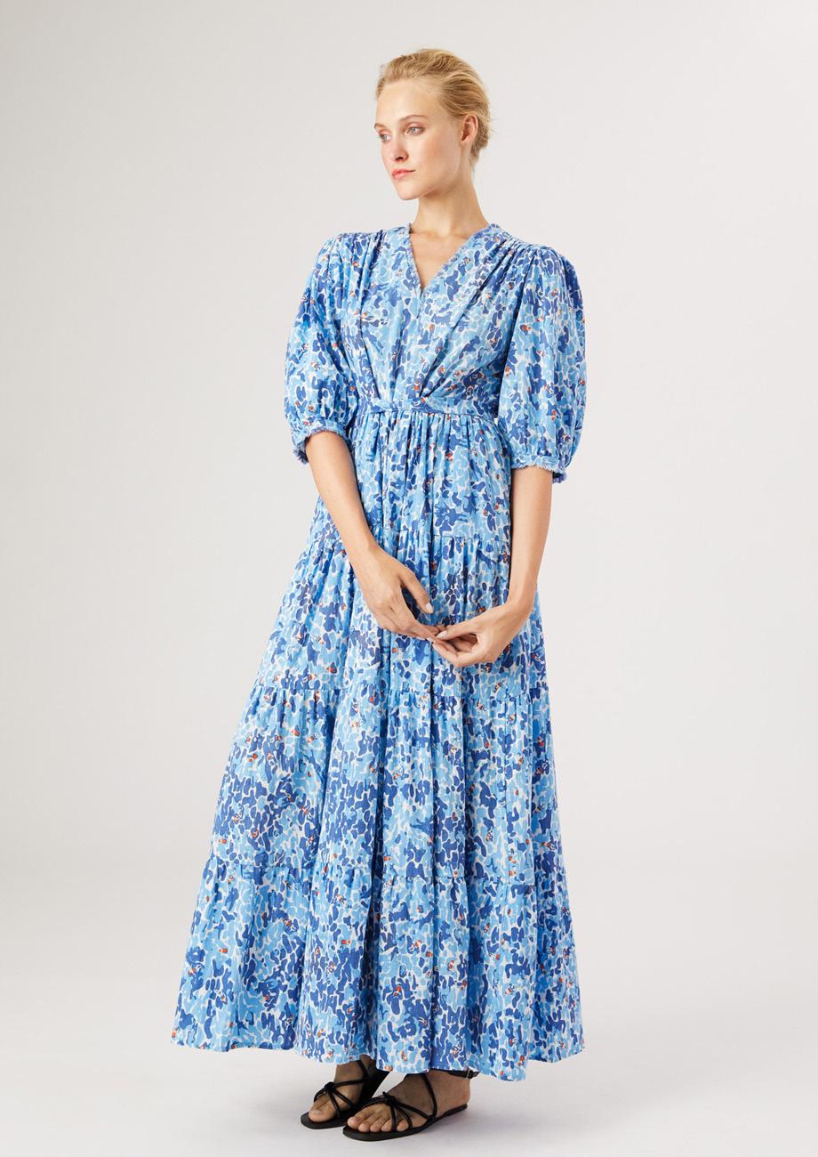 WEEKEND DRESS LONG - BLUE-2