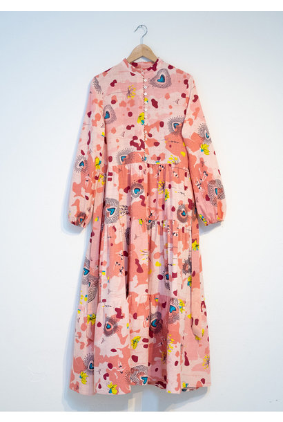 WIDE COTTON DRESS - ROSE
