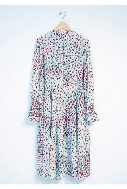 FAVORITE SILK DRESS LONG - SKY