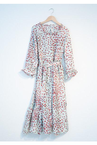 COCKTAIL SILK DRESS - SKY