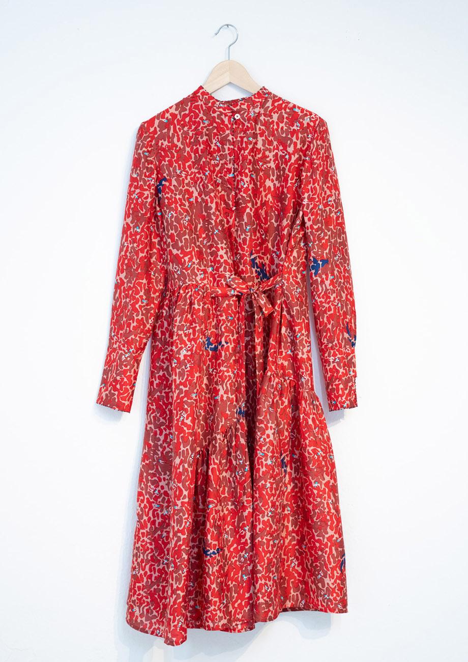 FAVORITE SILK DRESS LONG - RED-2