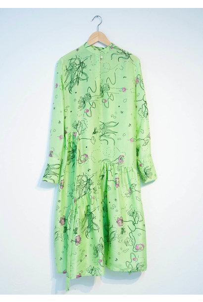 FAVORITE SILK DRESS - GREEN