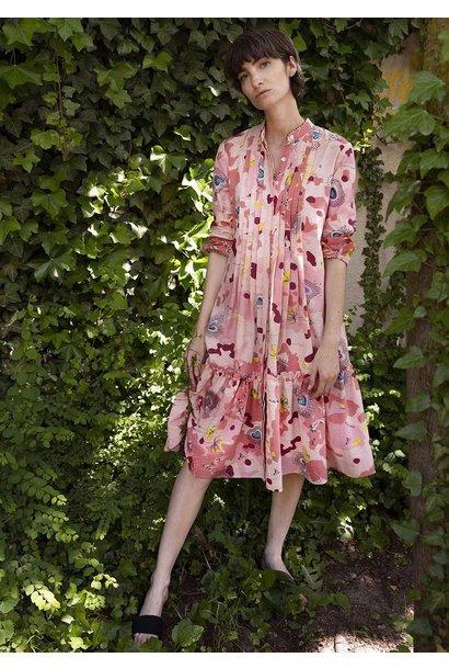 BASIC PLEATS DRESS - ROSE