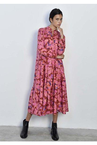 FAVORITE SILK DRESS - ROSES