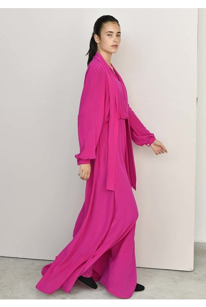 TAILOR SILK DRESS - HOTPINK (delivery 1st week of August)