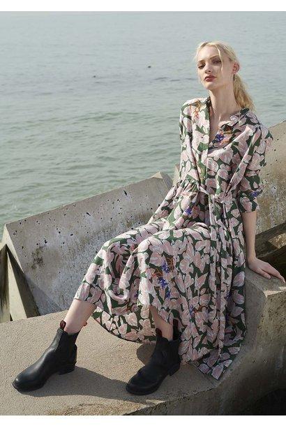 FAVORITE SILK DRESS LONG - ROSE OLIVE