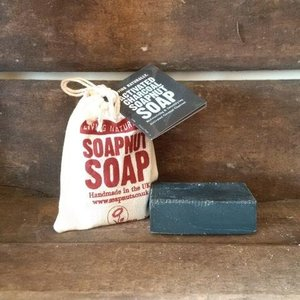 Living Naturally Activated Charcoal Soapnut Soap
