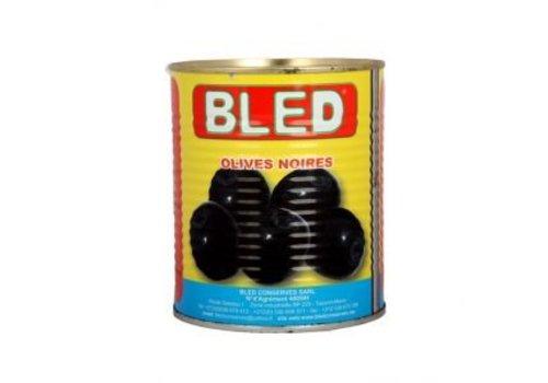 Bled Olijven zwart met pit