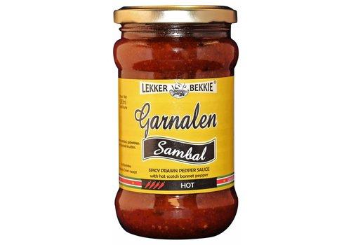 Lekkerbekkie Sambal garnalen heet