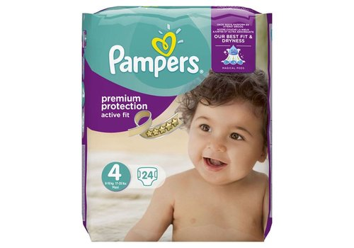 Pampers Active-Fit Maxi Maat 4, 8-16 kg.
