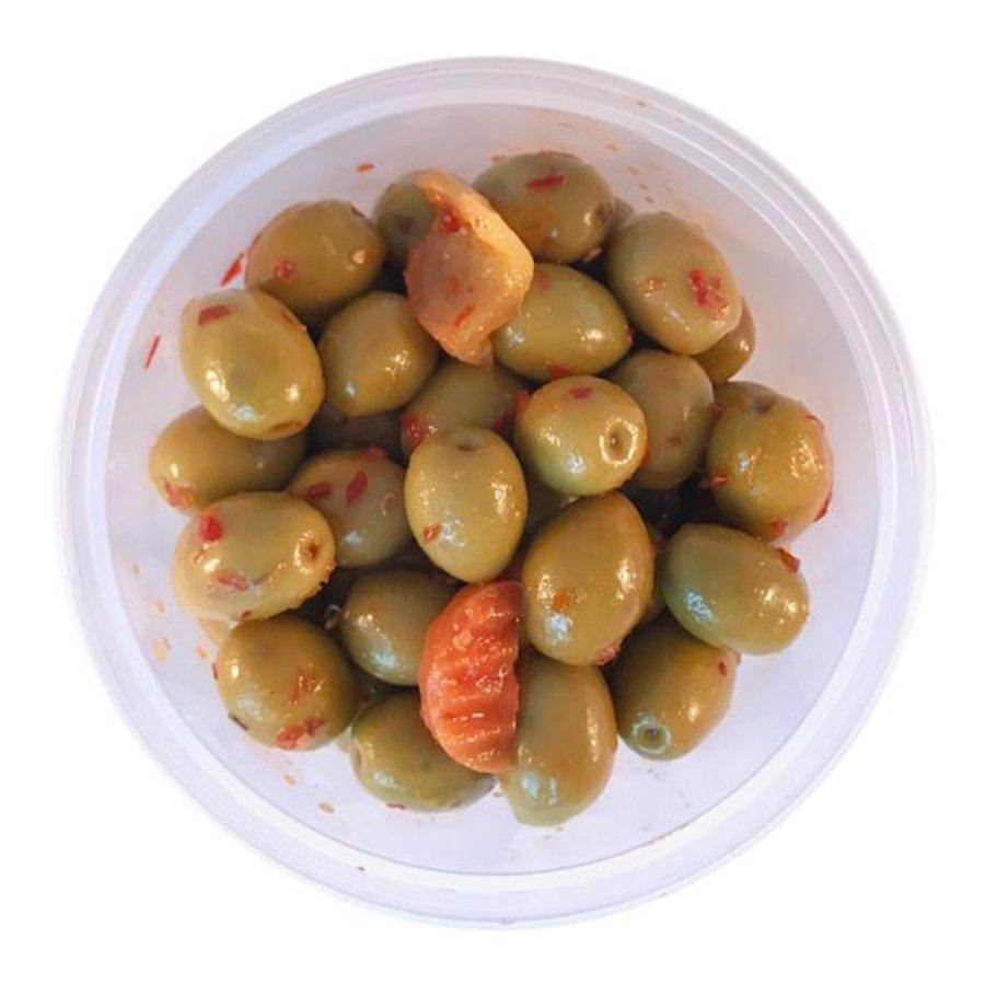Pikante olijven met pit