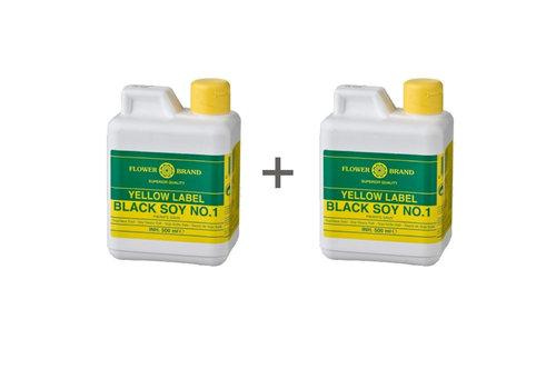 Flowerbrand Sojasaus yellow label duo