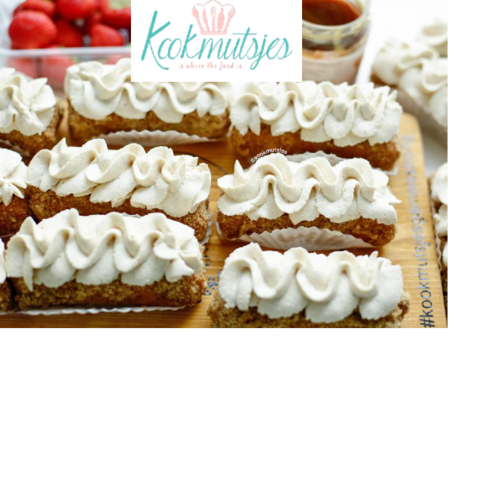 Noten karamel gebakjes