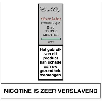 ExcluCig Silver Label Triple Menthol e-liquid
