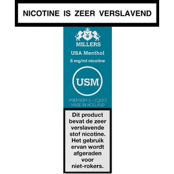Millers Juice Silverline USA Menthol e-liquid