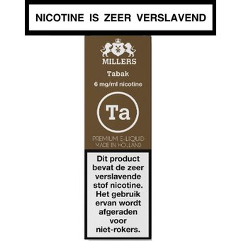 Millers Juice Silverline Tabak e-liquid