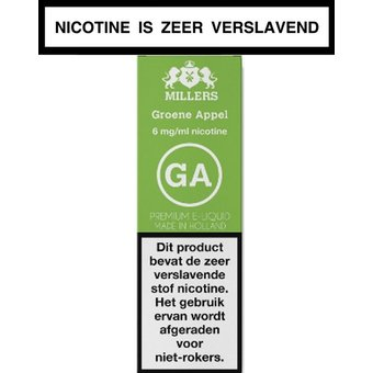 Millers Juice Silverline Groene appel e-liquid