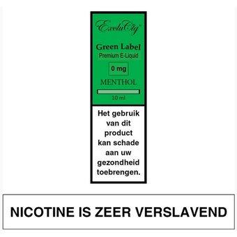 EXCLUCIG GREEN LABEL Menthol e-liquid