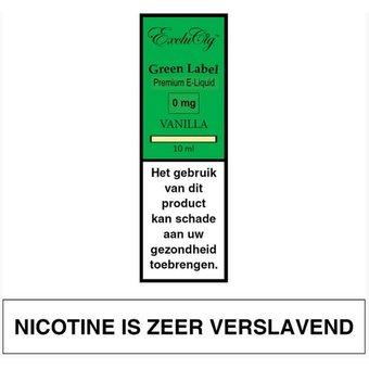 EXCLUCIG GREEN LABEL Vanilla e-lquid