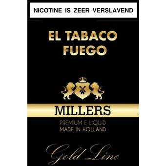 Millers Juice Goldline El tabaco fuego e-liquid