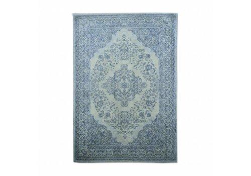 By-Boo Vloerkleed Carpet Medallion - donker blauw