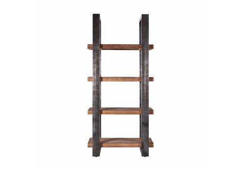 Eleonora collectie Boekenkast Mango 94 cm met metalen frame - zwart