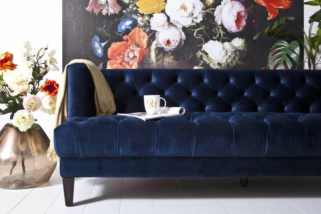Blauwe Design Bank.Eleonora Bank Voque Blauw Mega Korting 40 Op Diverse Modellen