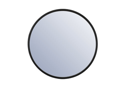 By-Boo Ronde Spiegel Selfie groot - zwart