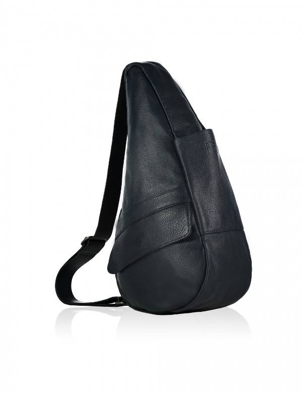 Healthy Back Bag Leather Small Navy 5304