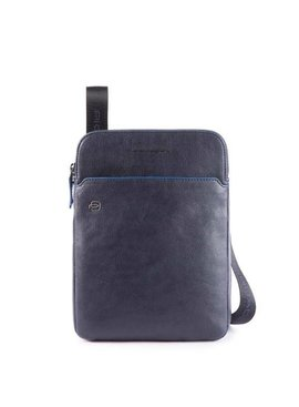 "Piquadro iPad®10,5''/9,7"" crossbody tas Blue Square Special"