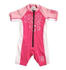 C-SKINS Baby Lycra Sunsuit Steamer - Girls Flowers