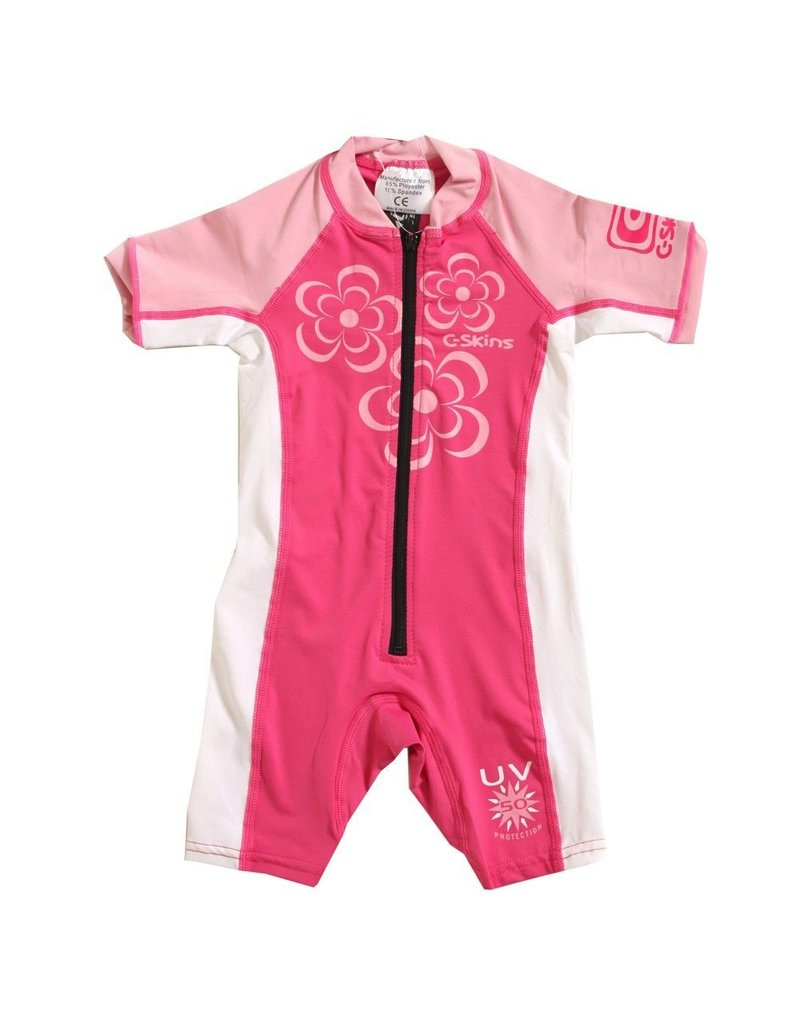 C-SKINS Baby Lycra Sunsuit Steamer - Girls Flowers
