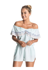 Roxy Roxy - Delicate Touch Cold Shoulder Romper Cover Up