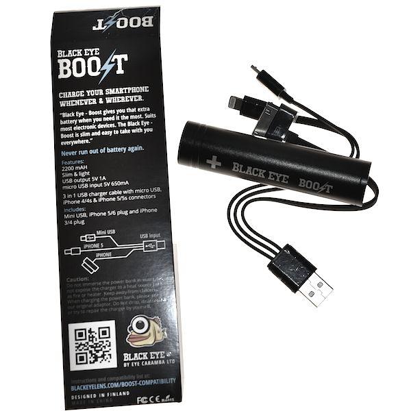 """Black Eye Black Eye """"Boost"""" 299Kr Nødbatteri til telefon."""
