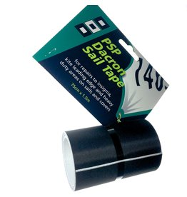 PSP 75mmx2M Svart Dacron tape til overlapp reperasjoner!
