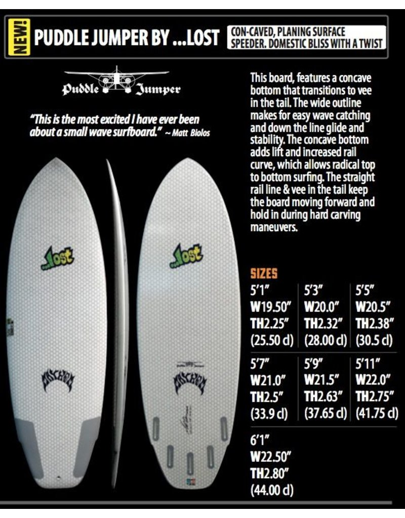 Lib-Tech Lost Lib-Tech - 5'11'' Puddle Jumper 41,75L (2016)