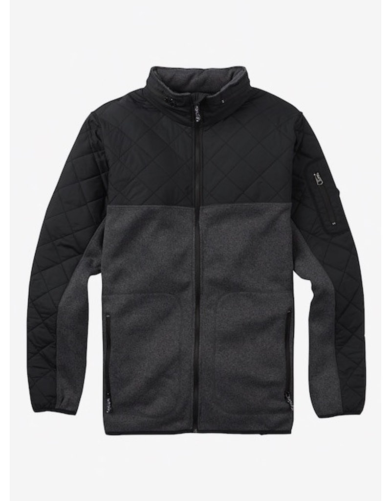 Burton Burton - Pierce Fleece - True Black Heather - S/48