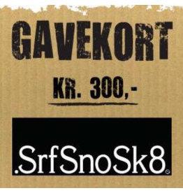 Gift Card Gavekort SrfSnoSk8 kr. 300,-