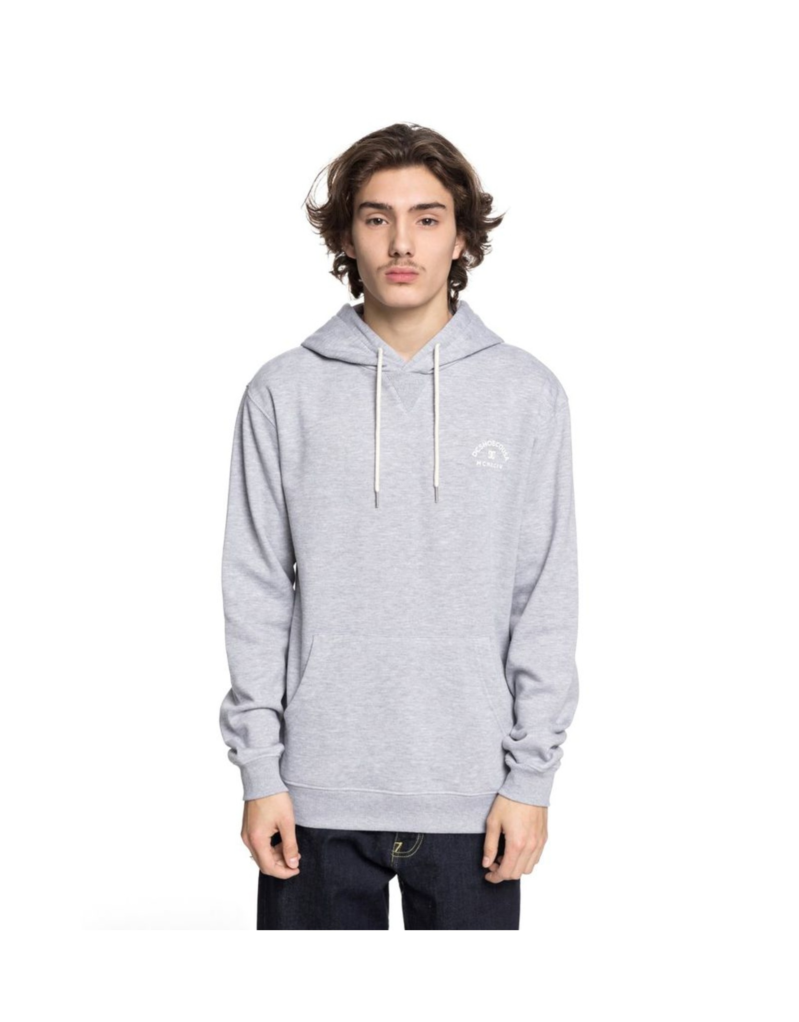 DC DC - Rebel 3 Hoodie - Grey Heather - M