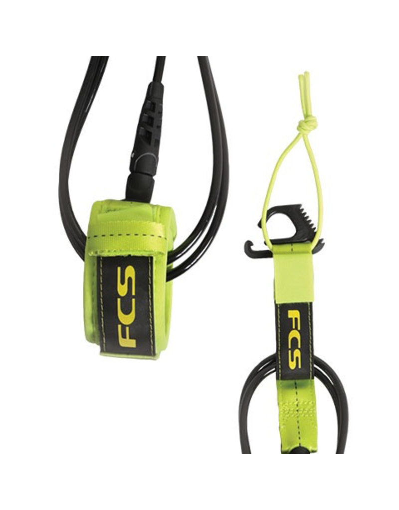FCS FCS 7' Reg Essential Leash Fluro Green