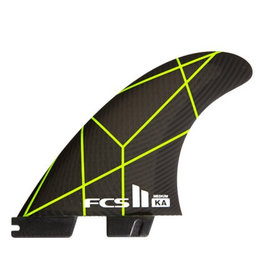 FCS FCS II KA PC Grey/Yellow Medium Tri-Fins